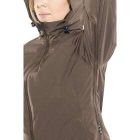 Y by Nordisk Raa Abrigo Plumas Hard Shell Mujer, deep brown/ensign blue